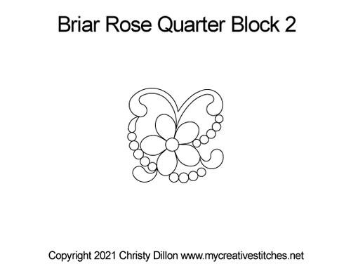 Briar rose quarter block 2 quilt pattern