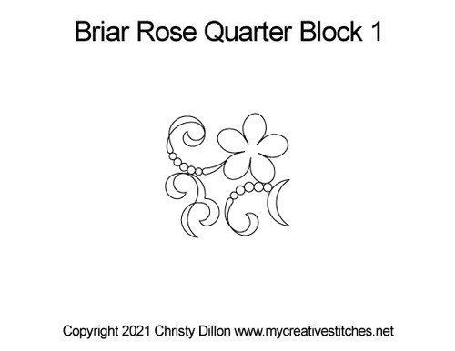 Briar rose quarter block 1 quilt pattern