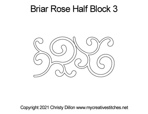 Briar rose half block 3 quilt pattern