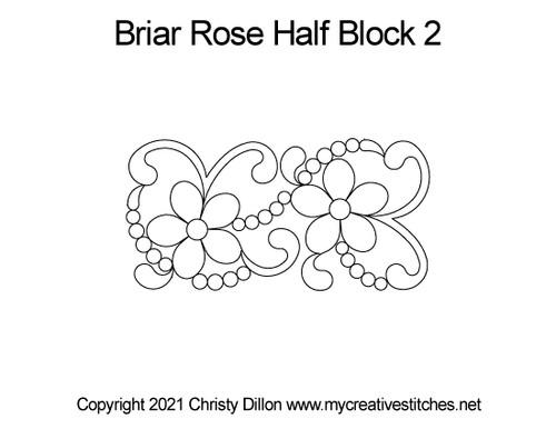 Briar rose half block 2 quilt pattern