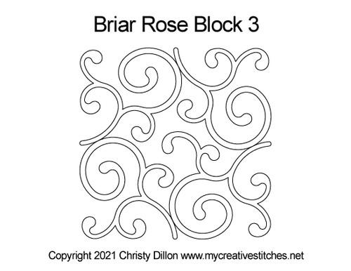 Briar rose block 3 quilt pattern