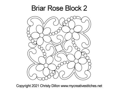 Briar rose block 2 quilt pattern