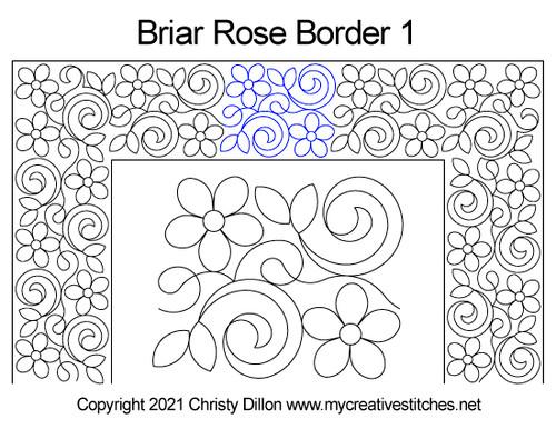 Briar rose border 1 quilt pattern