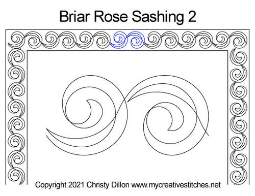 Briar rose sashing 2 quilt pattern