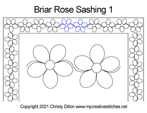 Briar rose sashing 1 quilt pattern