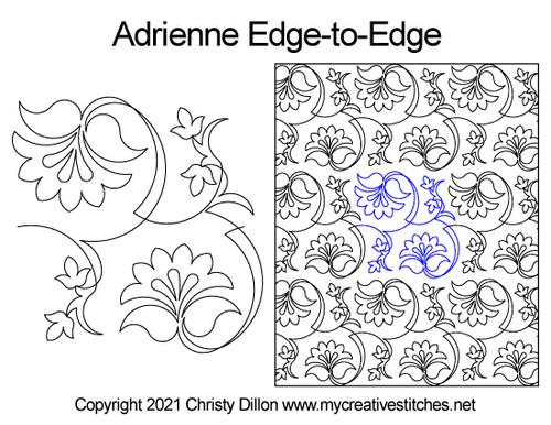 Adrienne edge-to-edge quilt pattern digital