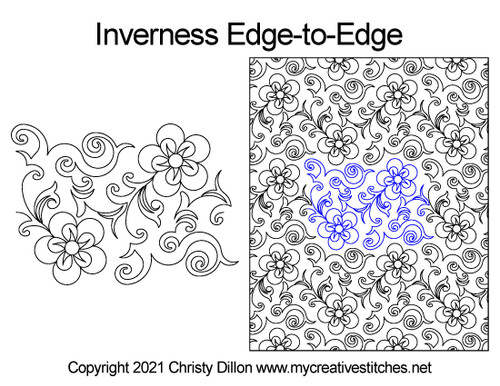 Inverness edge-to-edge quilting pattern