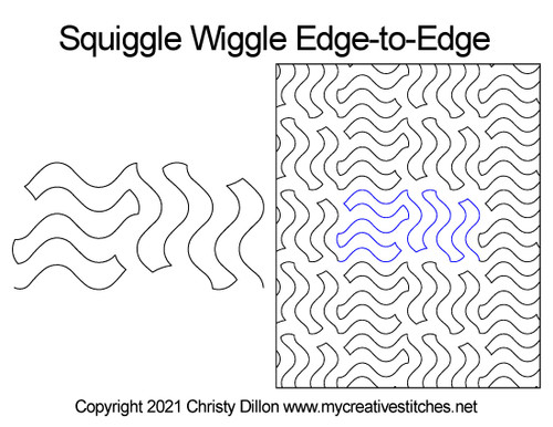 Squiggle wiggle edge-to-edge quilt pattern