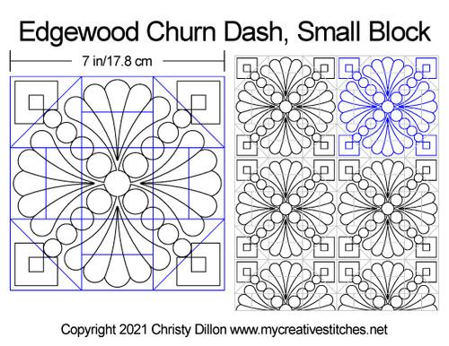 Edgewood churn dash small quilting block