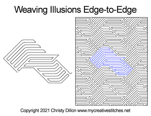 Weaving illusions edge-to-edge quilt pattern