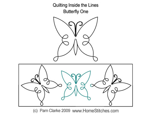 Butterfly 1 digitized quilting design