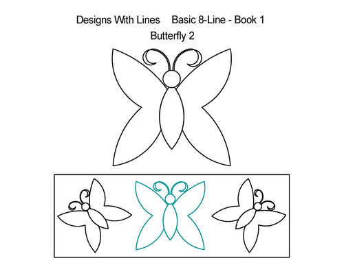 Butterfly 2 basic digitized quilting design