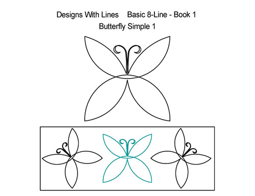 Butterfly simple 8 line digitized quilt ideas