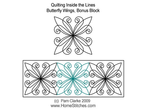 Butterfly wings bonus block quilting design