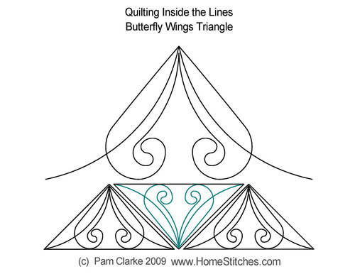 Butterfly wings triangle quilting design