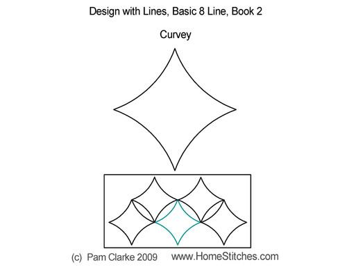 Curvey basic 8 line digitized quilt pattern