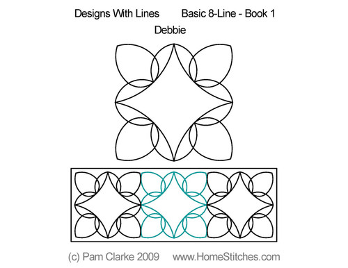 Debbie design with basic 8 line quilting ideas