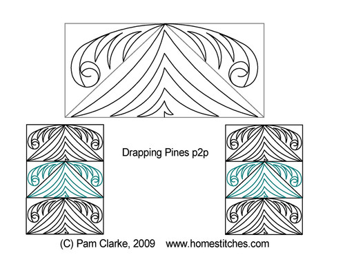 Drapping pines p2p quilting designs