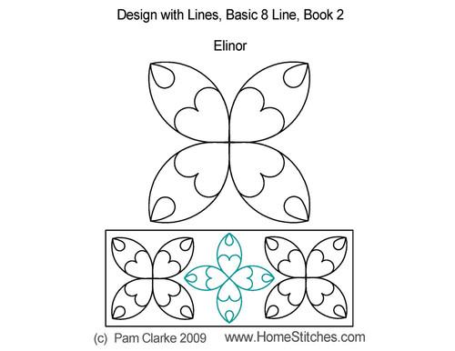 Elinor book quilting 8 line design