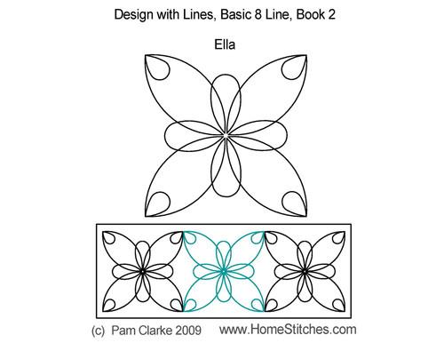 Ella 8 line digitized quilt pattern