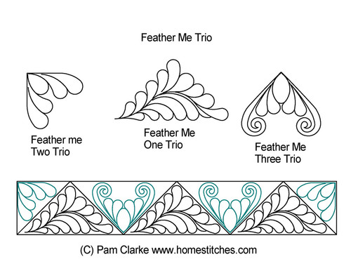 Feather me trio computerized quilting
