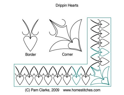 Pam Clarke Dripping Hearts