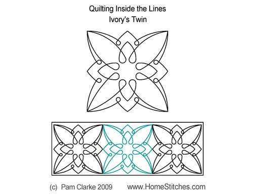 Ivory twin digitized quilting pattern