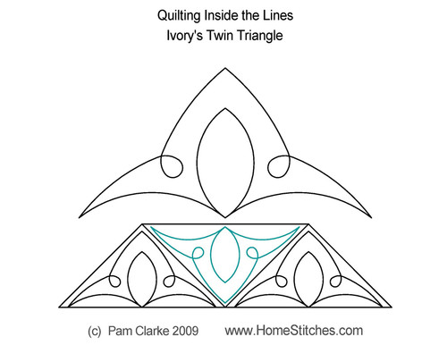 Ivory twin quilting inside the line triangle ideas