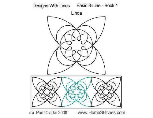 Linda 8 line computerized quilt design