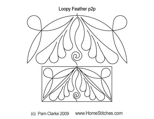 Loopy feather p2p digital quilt ideas