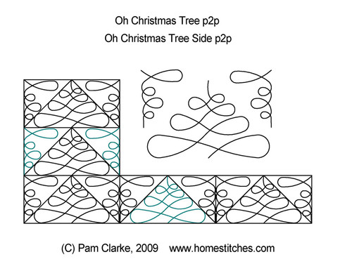 Oh christmas tree p2p quilting designs