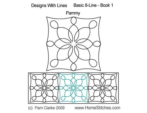 Pammy Basic 8 line book quilt pattern