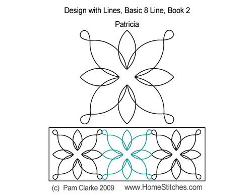 Patricia 8 line design quilt design