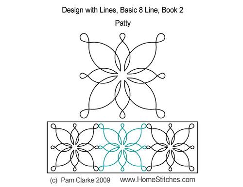 Patty 8 line design quilt design