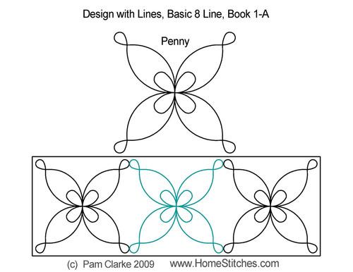 Penny basic digitized quilt pattern
