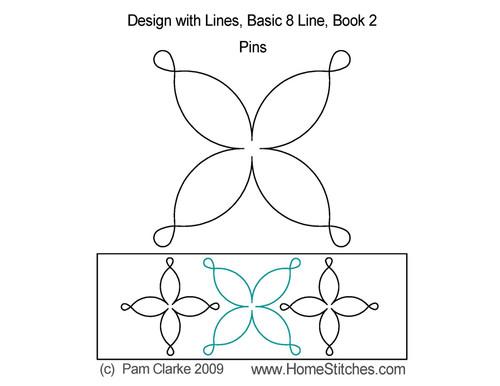 Pins computerized quilt design