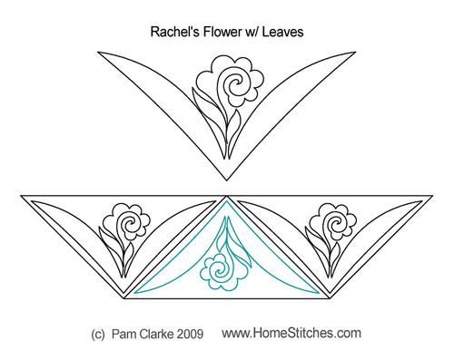 Rachel's flower with leaves quilt design