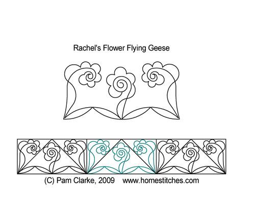 Rachel's flower flying geese quilt pattern