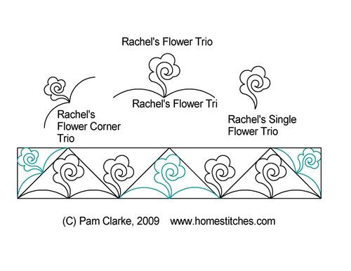 Rachel's flower trio border quilt pattern