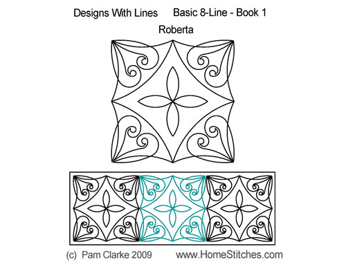 Roberta square quilting pattern