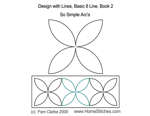 Simple arc's quilting pattern
