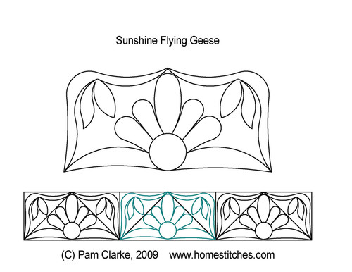 Sunshine flying geese quilt pattern