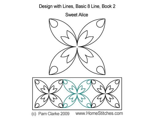 Sweet alice 8 line digitized quilt pattern