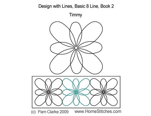 Timmy computerized 8 line quilt design