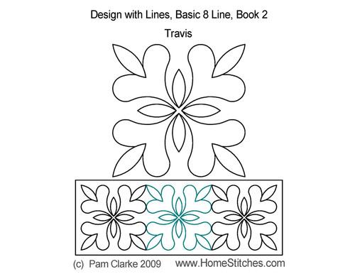 Travis basic 8 line computerized quilt ideas