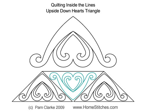 Upside down hearts triangle quilt pattern