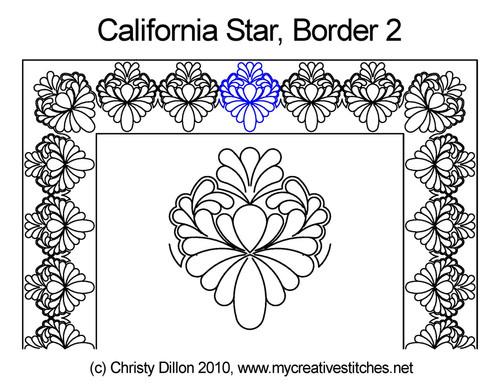 California star border & corner quilt design