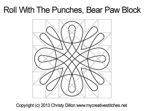 Bear Paw Block quilt design