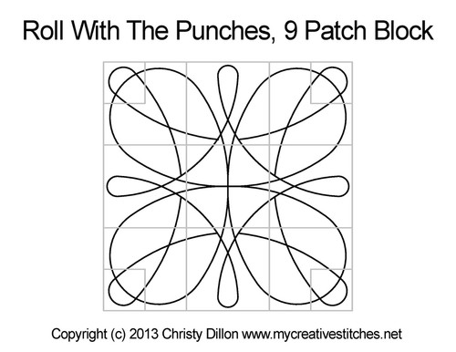 Roll with the punches nine patch block quilting