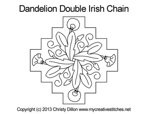 Dandelion double irish chain quilt pattern